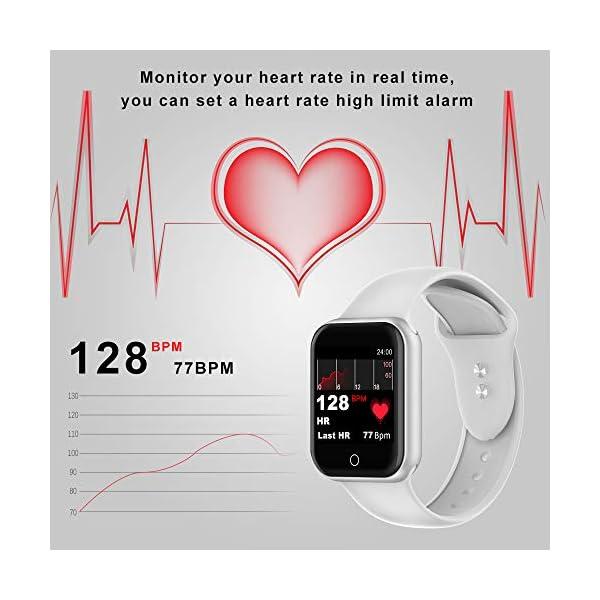 Smartwatch, KUNGIX Reloj Inteligente Impermeable IP68 Pulsera de Actividad Inteligente con Monitor de Sueño Pulsómetros… 7