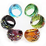 Easy Provider® 6X 17-19mm Glas Ringe Glasring Damenring Schmuck TOP