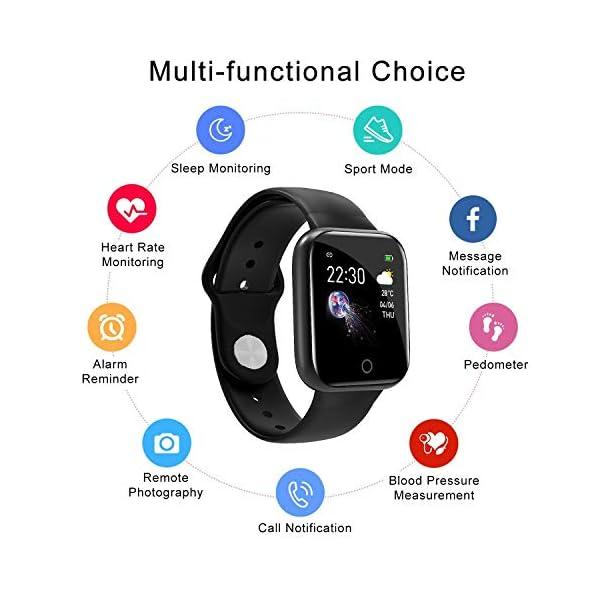 Smartwatch, Reloj Inteligente Mujer Hombre Pulsera de Actividad Inteligente Impermeable IP68 Pulsómetros Podómetro Monitor de para Sueño Calorías, para iPhone Android Xiaomi Samsung Huawei 3