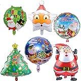 COSCELIA Weihnachtsdeko Ballon Snowman Folienballon Weihnachten Ballons 6er/ Set
