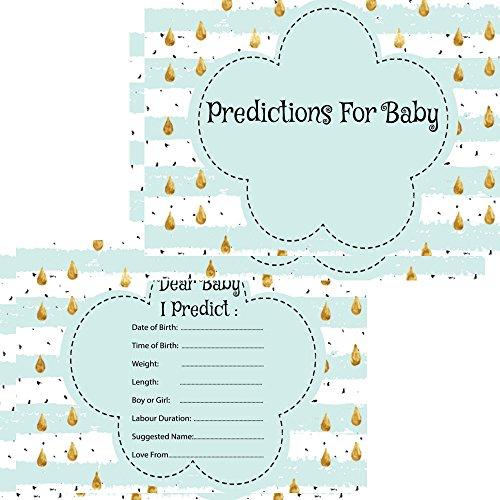 on Karten 16Gäste Andenken Spiel Aktivität mint Regentropfen (Baby Spiele, Baby-dusche)