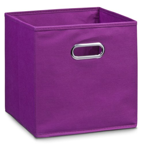 Zeller Storage Box, Microfiber, Purple, 28 x 28 x 28, used for sale  Delivered anywhere in UK