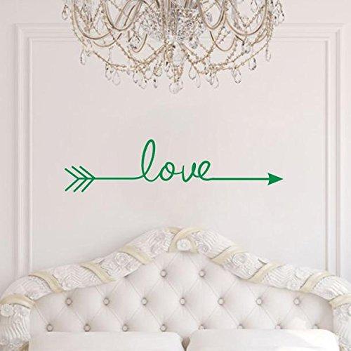 Zegeey Liebe Pfeil Aufkleber Wohnzimmer Schlafzimmer Vinyl Carving Wandtattoo Aufkleber für Heimtextilien