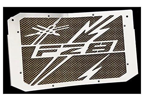 cache radiateur / grille de radiateur Yamaha 800 FZ8 et FZ8 Fazer 10>16 design «Eclair» + grillage anti gravillon