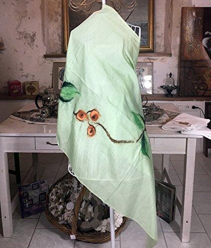 Pashmina Greerange Handgefertigt Unikat Schal, Handmade Unique Scarf