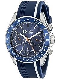 SO & CO New York 5010R.1 - Reloj de cuarzo para hombres, azul