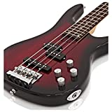 Guitare basse de Chicago par Gear4music Trans Red Burst