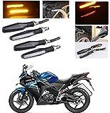 #7: AutoStark Motorcycle AMBER LED Turn Signal Indicators Light Lamp Regal Raptor 4Pcs Honda CBR 150R