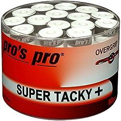 60 Overgrip Super Tacky Tape blanco tennis grips Cinta para mango de raqueta de tenis