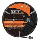 "TACKLIFE Soaker Hose, 15M Porous Hose with 1/2""(12mm) Diameter Heavy Duty Rubber Garden"