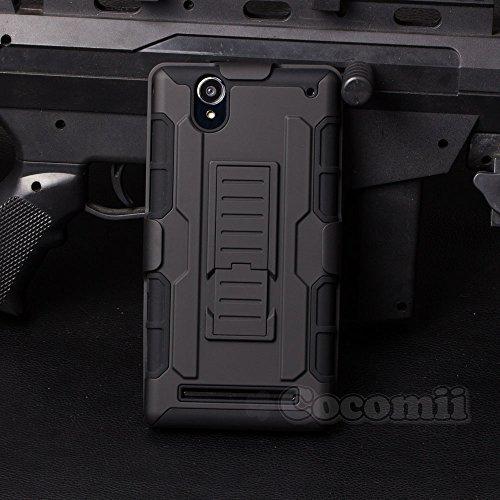 Cocomii Robot Armor Sony Xperia T2 Ultra Hülle [Strapazierfähig] Gürtelclip Ständer Stoßfest Gehäuse [Militärisch Verteidiger] Case Schutzhülle for Sony Xperia T2 Ultra (R.Black)