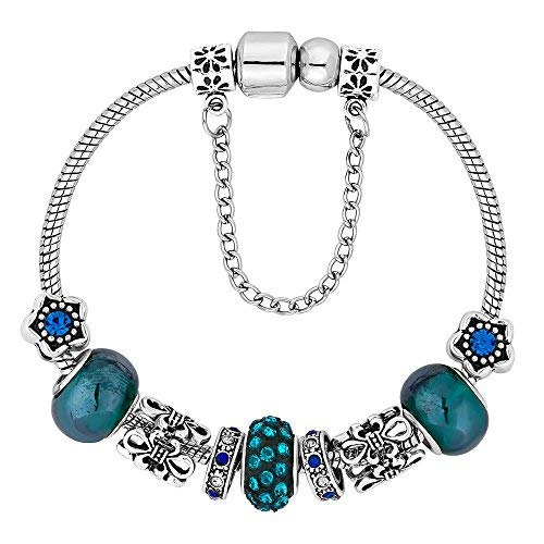 958e32ad1240 Pulsera de tesoro para mujer estilo encantador de Diamond Style UK con  cristales austriacos de alta calidad chapados en oro de 14 quilates.  Regalos ...