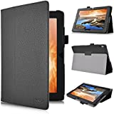 IVSO Slim-Book Stand Cover Case for Lenovo IdeaTab A10-70 10.1-Inch Tablet (Black)
