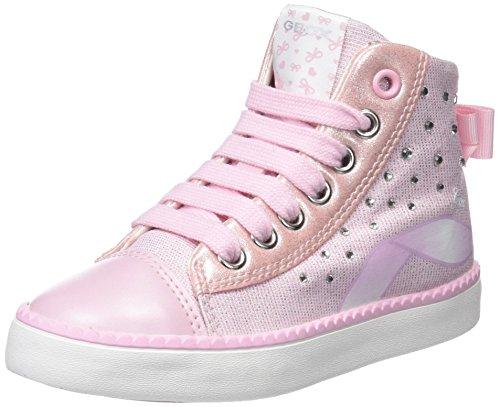 Geox Mädchen JR Ciak Girl B Hohe Sneaker, Pink (Pink), 34 EU (Patent-high-top-sneaker)