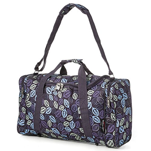 5 Cities Lightweight Hand Luggage Cabin Sized Sports Duffel Holdall ... (Leaf Purple)