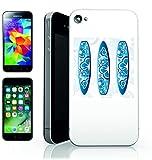 Smartphone Case Apple IPhone 7 'SURFBRETT- SURFEN- STILVOLLE- BLAU- SPORT- WASSERSPORT' Spass- Kult- Motiv Geschenkidee Ostern Weihnachten