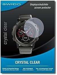 "2 x SWIDO® Protector de pantalla Garmin fenix 5X Protectores de pantalla de película ""CrystalClear"" invisible"