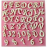 CLE DE TOUS - Molde Silicona para Tarta Pastel Cenefas Fondant #FPFA-511 Molde Decoración Tarta con Forma Letras Alemanes y número 0-9