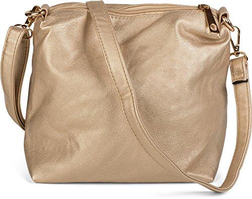 styleBREAKER borsa double face con look intrecciato, shopper, borsetta, set composto da 2 borse, borsa nella borsa, borsa da scuola, donna 02012182, colore:Nero/ Oro Nero/ Oro
