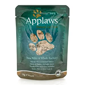 Applaws Tuna Fillet & Whole Anchovy 70g from MPM Products Ltd