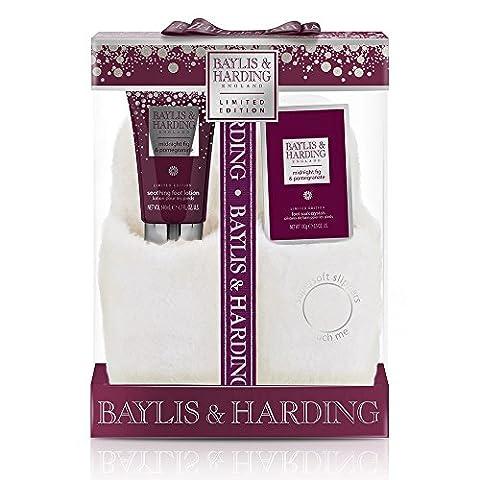 Baylis & Harding Mitternacht Fig und Granatapfel Luxus-Slipper Set, 1 Stück