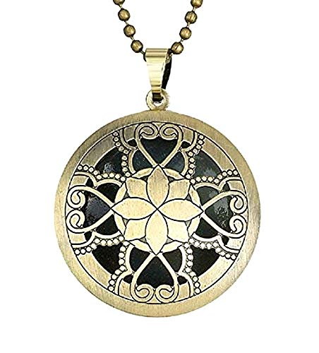 Lovelegis Kette für Frauen - Damen Halskette - Medaille - Dropdown - Glow In The Dark - Im Dunkeln leuchten - Hell - Phosphoreszierend - Blaue Farbe im Dunkeln