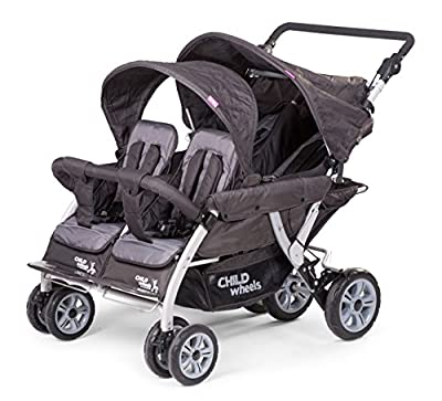 Child Wheels cochecito Belén carro Quadro viersitzer - Nuevo con Auto Brake