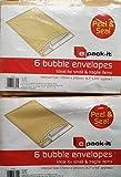 12Peel et Seal enveloppes à bulles/2x 6