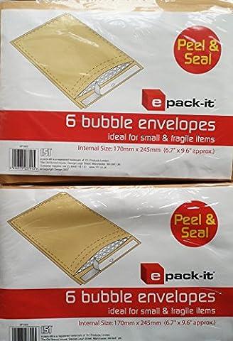 Selbstklebende Luftpolstertaschen, 2 Packungen mit je 8 Stück