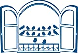 Vinilo decorativo hogar -Pajaritos, Mate, Orientación normal ,110 x 75 cm. ,Azul eléctrico