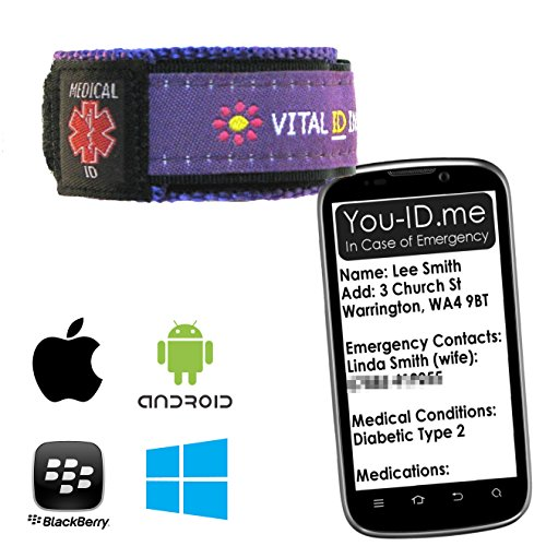 Medical Identität Armband & Foto Medical ID Karte Combo Saver Deal. GRATIS Zugang Token zu you-id. Me World Class med-id System. GRATIS spezielle Pen. Diabetes, Asthma, Autismus, ADHD etc.. - Karte Combo