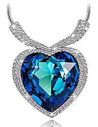 Happy GiftMart Swarovski Elements Titanic Heart Of The Ocean Necklace For Women And Girls