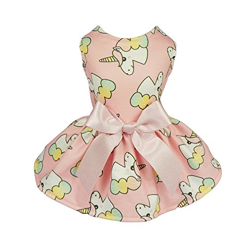 Fitwarm Fairy Einhorn Haustier Kleidung für Hunde Kleider Katzen Weste Shirts Pink, L, Rose