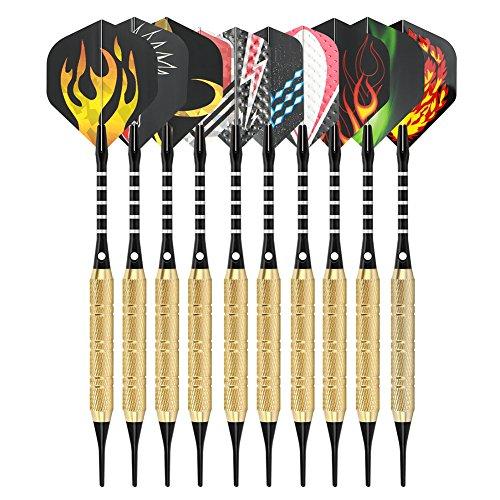 *Dartpfeile set, Steel Darts 12 Stück mit 42 Flight/100 Gummiringe Dart Pfeile, Ultra langlebige schlanke Darts*