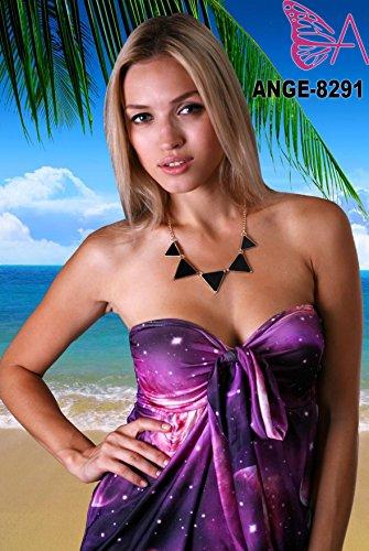 Robe Angela Tube Bandeau à la Hauteur du Genou, Robe de Vacances Neptune