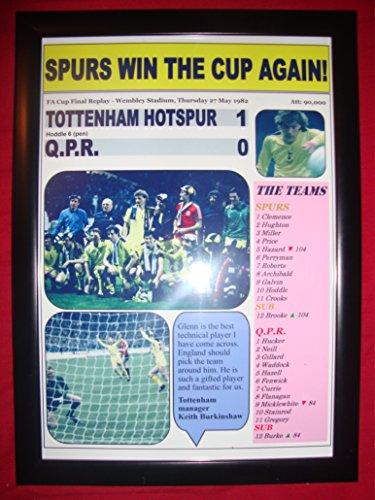 Tottenham Hotspur 1 giftsandpleasures 0-1982 FA-Cup Finale, handsigniert, gerahmt -
