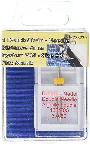 TSL Plat Tige Double Aiguille, Argent, 3 mm