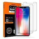 Spigen Vetro Temperato iPhone X, iPhone 10, 2Pezzi, HD (0.33mm Premium Ver.) Pellicola Protettiva iPhone X, protezione per schermo (057GL22565)