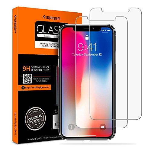 [Spigen è tornato] Pellicola Vetro temperato iPhone X, Original Ver, Pellicola Protettiva iPhone X, 2Pezzi, Face ID Compatible, Pellicola iPhone X [Anti-Graffo/Olio] (057GL22565)