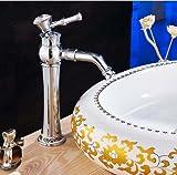 5151BUYWORLD di alta qualità rubinetto Fashion Chrome bagno rubinetto monocomando lavello rubinetto miscelatore caldo e Coldfor bagno cucina casa Gaden