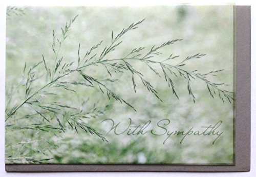 trauerkarte-englisch-with-sympathy-grasblute-perga