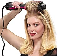 BOOBOOAU 1000W Hair Dryer Brush 2 In 1 Hair Straightener Curler Comb Electric Blow Dryer With Comb Hair Brush