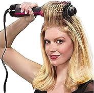 فرشاة مجفف شعر 1000 وات من بوهوا، 2 في 1 لفرد الشعر، مشط لمكواة الشعر، مجفف كهربائي مع مشط وفرشاة شعر ببكرة مص