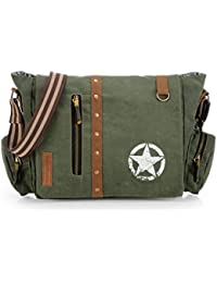 The House Of Tara Vintage Canvas Crossbody Travel Office Business Messenger Bag