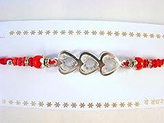 Idea Regalo - Sarvam filo Rakhi Raksha Bandhan, braccialetto regalo per il fratello indiano Rakhi Rakshabandhan festival