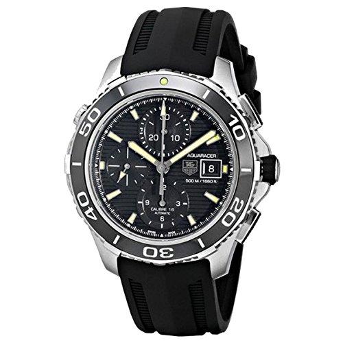Tagheuer Herren-Armbanduhr Chronograph Automatik Kautschuk CAK2111.FT8019