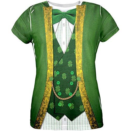St. Patricks Day Kobold Kostüm aller Frauen (Damen Tshirt Kostüme Kobold)