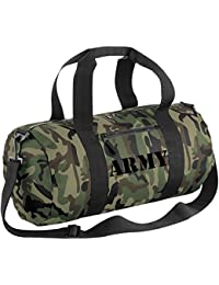 NEW camouflage BARREL BAG with ARMY Embroidered