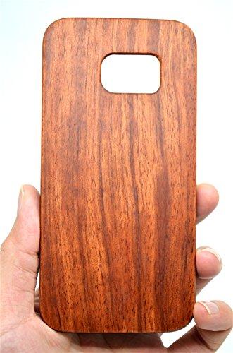 Holzsammlung Cover Compatibile per Samsung Galaxy S7 Edge - Premium Custodia Protettiva in Legno/bambù Naturale Case Posteriore per Smartphone Samsung Galaxy S7 Edge - Palissandro e PC