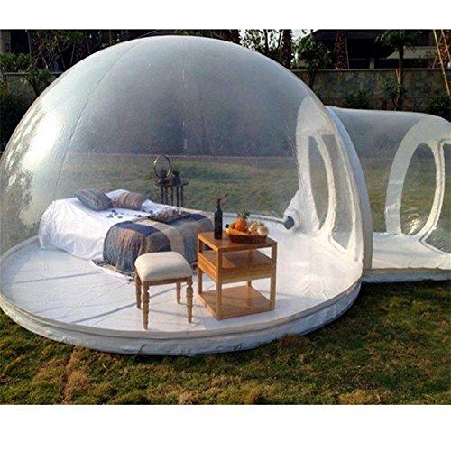 WENBIAOXUEBall aufblasbare transparente aufblasbare Zelte große Sonnenschein Hotel Blase Haus mobile Outdoor Camping Zelt Haus 3 Meter im Durchmesser (transparente weiße Kanal Modelle)